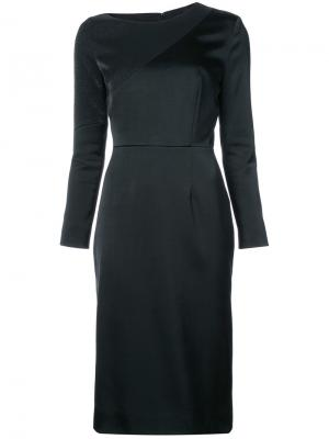 Платье миди с панельным дизайном Jeffrey Dodd. Цвет: чёрный