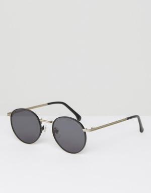 Komono Круглые солнцезащитные очки Taylor. Цвет: черный