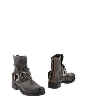 Полусапоги и высокие ботинки MANILA GRACE DENIM. Цвет: серый