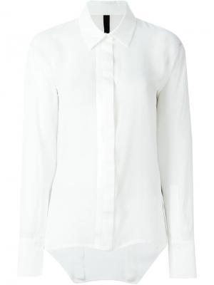 Классическая рубашка Ilaria Nistri. Цвет: белый