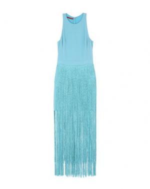 Короткое платье TAMARA MELLON. Цвет: небесно-голубой