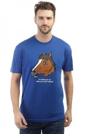Футболка  Horse Head Premium Royal Enjoi. Цвет: синий