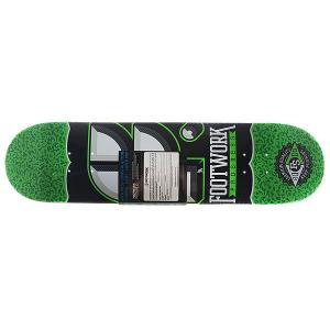 Дека для скейтборда  Progress Cracked Salad Green 31.2 x 7.75 (19.7 см) Footwork. Цвет: черный,белый,зеленый