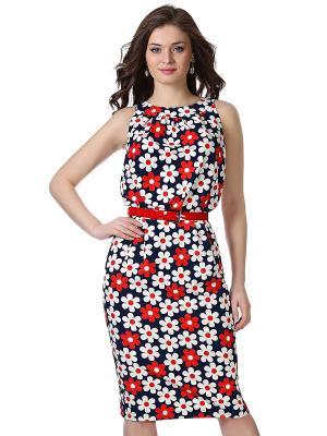 Платье OLIVEGREY. Цвет: темно-синий, красный, белый
