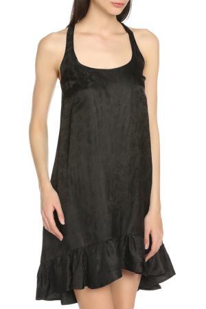 Летнее платье с оборкой по низу Manila Grace. Цвет: 99 черный