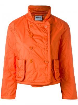 Приталенная куртка Aspesi. Цвет: жёлтый и оранжевый