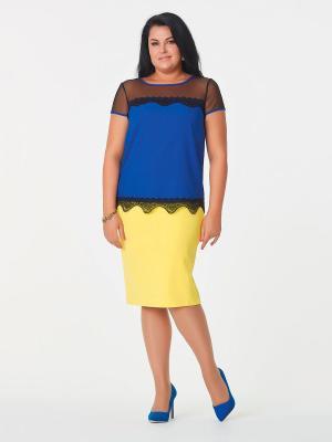 Блузка Be cara. Цвет: черный,синий