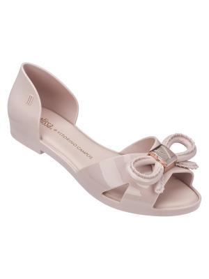 Балетки Melissa. Цвет: бледно-розовый