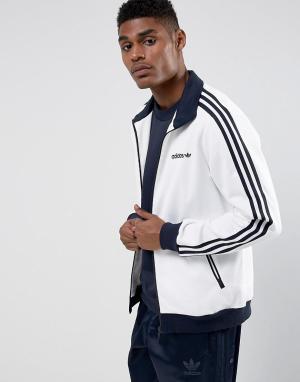 Adidas Originals Белая спортивная куртка Beckenbauer BR4222. Цвет: белый