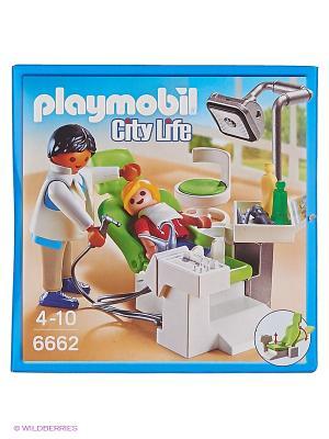 Детская клиника: Дантист с пациентом Playmobil. Цвет: белый, зеленый