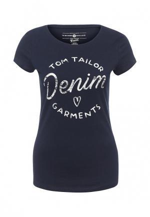 Футболка Tom Tailor Denim. Цвет: синий