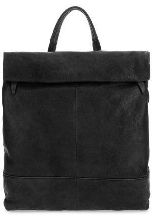 Сумка-рюкзак из мягкой кожи Bruno Rossi. Цвет: черный