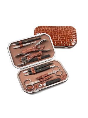Маникюрный набор Zinger. Цвет: коричневый