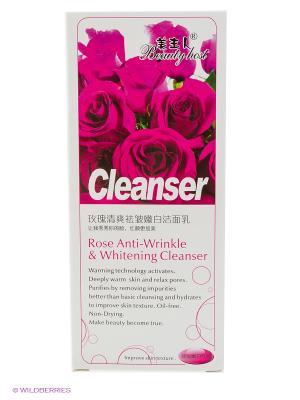 Гель для умывания ТМ BEAUTY HOST Rose anti-wrinkle whitening face cleanser, 160 мл.. Цвет: розовый, прозрачный