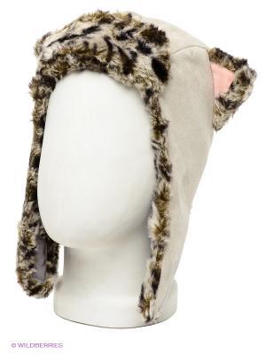 Шапка True Fur. Цвет: светло-серый
