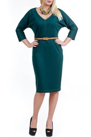 Платье Полия LESYA. Цвет: зеленый