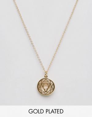 Ottoman Hands Ожерелье с подвеской. Цвет: золотой