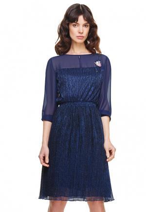 Платье Devita. Цвет: синий