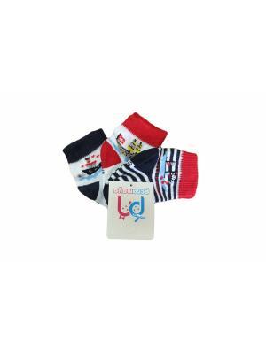 Носки, 3 пары PERA MAYA. Цвет: белый, черный, красный