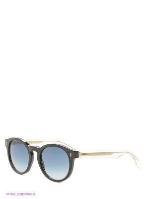 Солнцезащитные очки FENDI. Цвет: синий, черный