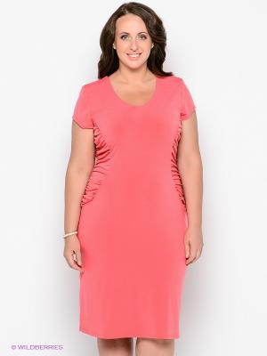 Платье Forus. Цвет: коралловый