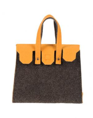 Сумочка из текстиля GB8. Цвет: темно-коричневый