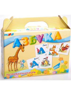 Детская настольная игра пазл развивающий Азбука DREAM MAKERS. Цвет: желтый