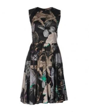 Короткое платье DAKS LONDON. Цвет: стальной серый
