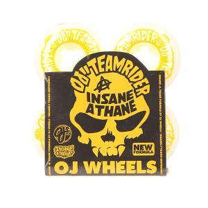 Колеса для скейтборда  Team Rider Ez Edge Insaneathane White/Yellow 101A 53 mm Oj. Цвет: белый,желтый