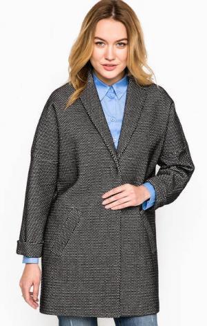 Серое пальто из хлопка на кнопках MORE &. Цвет: серый