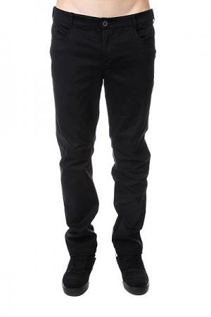Штаны прямые  Classic Chino Black Skills. Цвет: черный