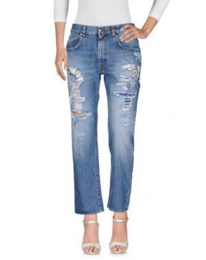 Джинсовые брюки (+) PEOPLE. Цвет: синий