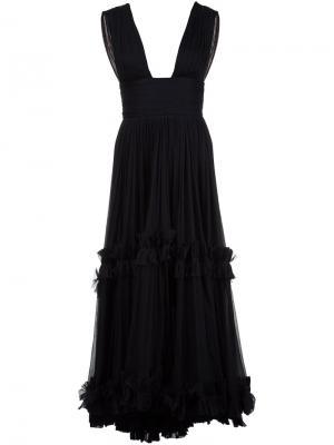 Платье с глубоким вырезом Maria Lucia Hohan. Цвет: чёрный