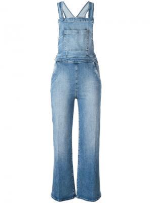 Комбинезон с широкими штанинами Frame Denim. Цвет: синий