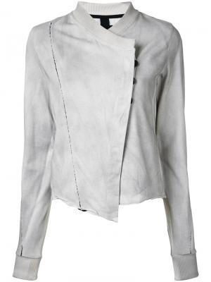 Асимметричная куртка на пуговицах Thom Krom. Цвет: серый