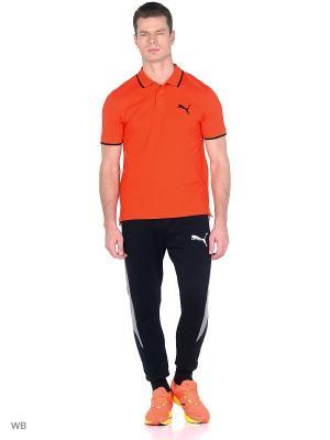 Футболка-поло PUMA Hero Polo. Цвет: оранжевый