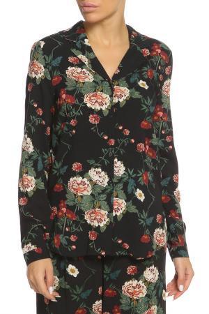 Рубашка ICHI. Цвет: 10010 черный, бордовый