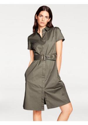Платье RICK CARDONA by Heine. Цвет: оливковый