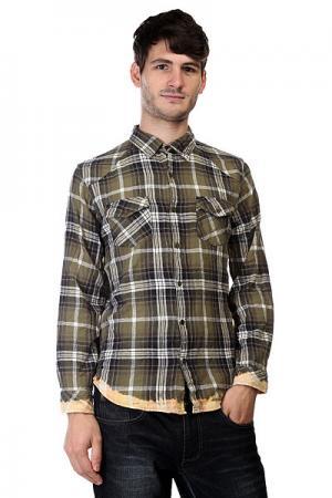 Рубашка в клетку  Freedom Flannel Acdc Green Insight. Цвет: зеленый