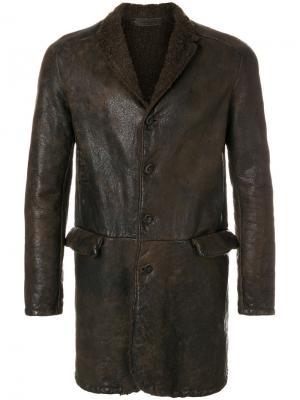 Куртка на пуговицах Salvatore Santoro. Цвет: коричневый