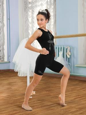 Майка-борцовка для девочек Arina Ballerina. Цвет: черный