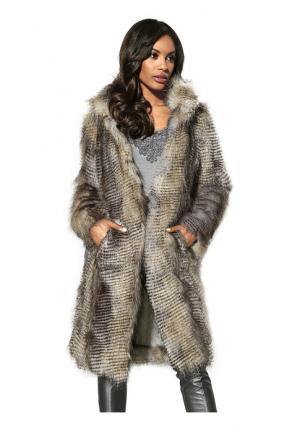 Пальто PATRIZIA DINI. Цвет: серый