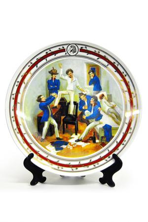 Тарелка настенная А.С. Пушкин Федерация. Цвет: мультиколор