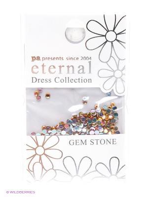 Стразы-камушки для ногтевого дизайна Светлый Топаз 2мм ETERNAL Dress Collection Gem Stone PA presents since 2004. Цвет: золотистый