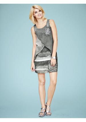 Платье Linea Tesini. Цвет: джинсовый синий, серый