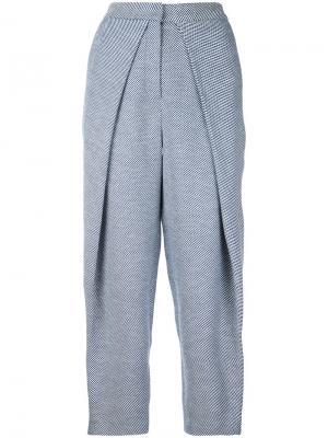 Твидовые брюки Curvature Bianca Spender. Цвет: синий