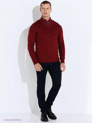 Пуловер Oodji. Цвет: бордовый