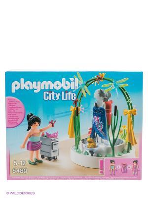 Игровой набор Витрина Playmobil. Цвет: голубой, бежевый, розовый