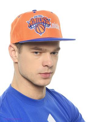 Кепка Cap Knicks Adidas. Цвет: оранжевый