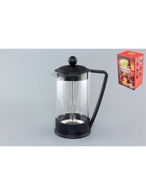 Чайник с поршнем Viva - LaCafe Black Elan Gallery. Цвет: черный, прозрачный